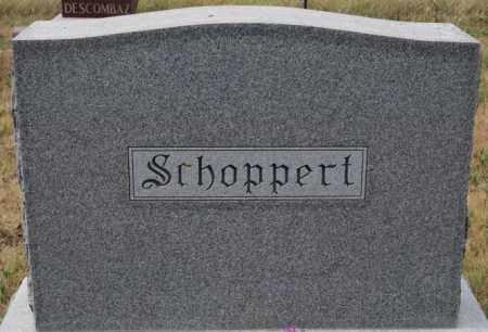 SCHOPPERT, FAMILY MARKER - Hutchinson County, South Dakota | FAMILY MARKER SCHOPPERT - South Dakota Gravestone Photos