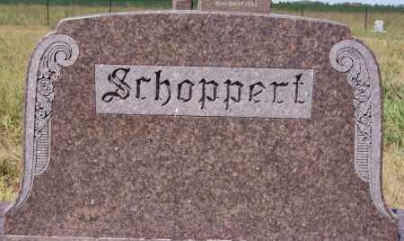 SCHOPPERT, FAMILY MARKER - Hutchinson County, South Dakota   FAMILY MARKER SCHOPPERT - South Dakota Gravestone Photos