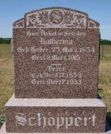 HUBER SCHOPPERT, KATHERINA - Hutchinson County, South Dakota | KATHERINA HUBER SCHOPPERT - South Dakota Gravestone Photos