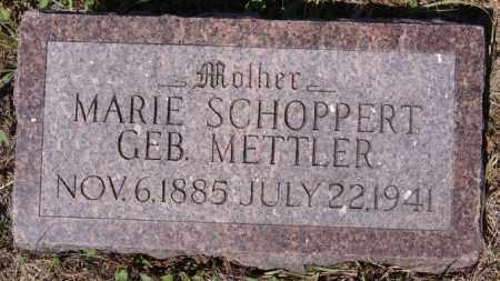 METTLER SCHOPPERT, MARIE - Hutchinson County, South Dakota | MARIE METTLER SCHOPPERT - South Dakota Gravestone Photos