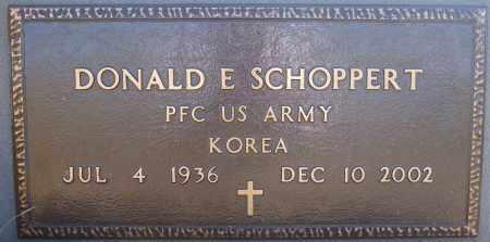 SCHOPPERT, DONALD E (KOREA) - Hutchinson County, South Dakota | DONALD E (KOREA) SCHOPPERT - South Dakota Gravestone Photos