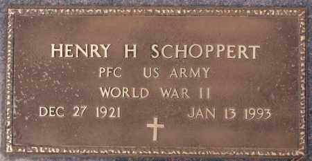 SCHOPPERT, HENRY H (WWII) - Hutchinson County, South Dakota | HENRY H (WWII) SCHOPPERT - South Dakota Gravestone Photos