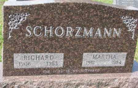 SCHORZMANN, MARTHA - Hutchinson County, South Dakota   MARTHA SCHORZMANN - South Dakota Gravestone Photos