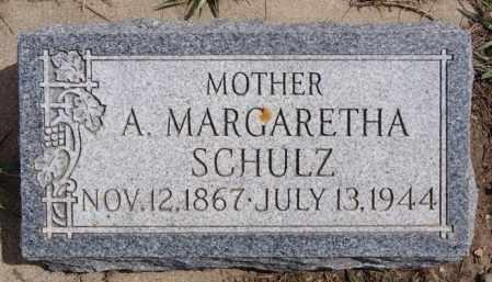 SCHULZ, A MARGARETHA - Hutchinson County, South Dakota | A MARGARETHA SCHULZ - South Dakota Gravestone Photos