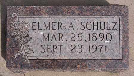 SCHULZ, ELMER A - Hutchinson County, South Dakota   ELMER A SCHULZ - South Dakota Gravestone Photos
