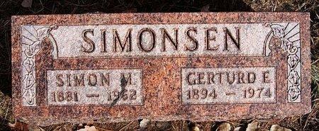 SIMONSEN, GERTURD E - Hutchinson County, South Dakota | GERTURD E SIMONSEN - South Dakota Gravestone Photos