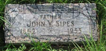 SIPES, JOHN Y. - Hutchinson County, South Dakota   JOHN Y. SIPES - South Dakota Gravestone Photos