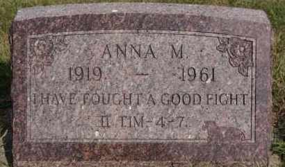 STAHL, ANNA M - Hutchinson County, South Dakota | ANNA M STAHL - South Dakota Gravestone Photos