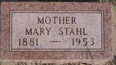 STAHL, MARY - Hutchinson County, South Dakota | MARY STAHL - South Dakota Gravestone Photos