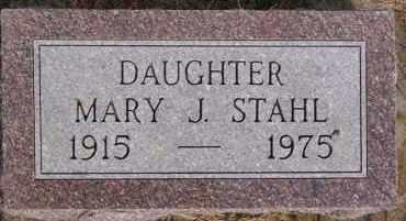 STAHL, MARY J - Hutchinson County, South Dakota | MARY J STAHL - South Dakota Gravestone Photos
