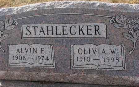 STAHLECKER, ALVIN E. - Hutchinson County, South Dakota | ALVIN E. STAHLECKER - South Dakota Gravestone Photos