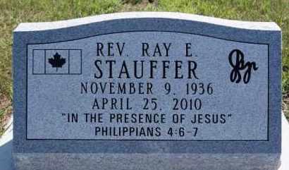 STAUFFER, RAY E - Hutchinson County, South Dakota   RAY E STAUFFER - South Dakota Gravestone Photos