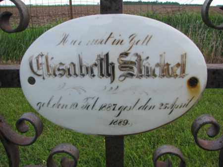 STICKEL, ELISABETH (CLOSEUP) - Hutchinson County, South Dakota | ELISABETH (CLOSEUP) STICKEL - South Dakota Gravestone Photos