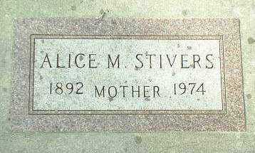 STIVERS, ALICE - Hutchinson County, South Dakota | ALICE STIVERS - South Dakota Gravestone Photos