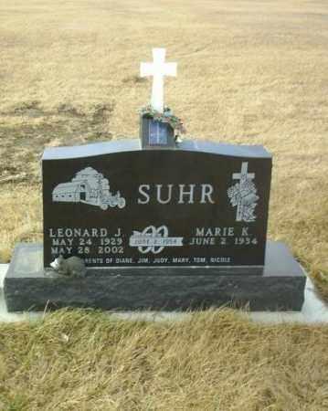 SUHR, LEONARD - Hutchinson County, South Dakota | LEONARD SUHR - South Dakota Gravestone Photos
