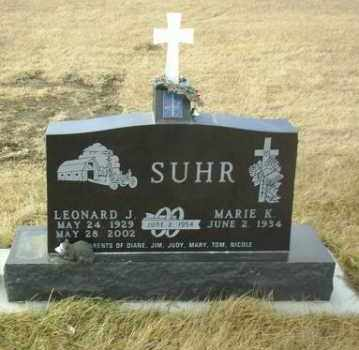 SUHR, MARIE - Hutchinson County, South Dakota | MARIE SUHR - South Dakota Gravestone Photos