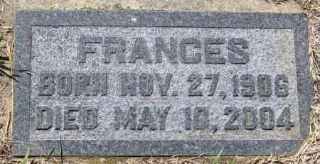 THILL, FRANCES - Hutchinson County, South Dakota | FRANCES THILL - South Dakota Gravestone Photos