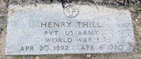 THILL, HENRY - Hutchinson County, South Dakota   HENRY THILL - South Dakota Gravestone Photos