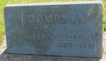 THOMPSON, CHRISTIAN - Hutchinson County, South Dakota | CHRISTIAN THOMPSON - South Dakota Gravestone Photos
