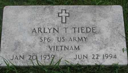 TIEDE, ARLYN T (VIETNAM) - Hutchinson County, South Dakota | ARLYN T (VIETNAM) TIEDE - South Dakota Gravestone Photos