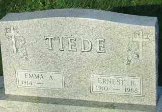 LINK TIEDE, EMMA A. - Hutchinson County, South Dakota   EMMA A. LINK TIEDE - South Dakota Gravestone Photos