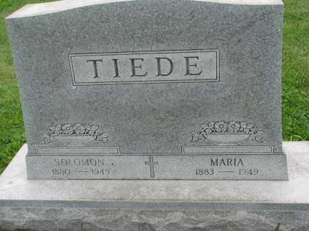 TIEDE, MARIA - Hutchinson County, South Dakota | MARIA TIEDE - South Dakota Gravestone Photos