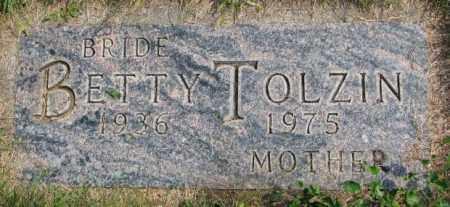 TOLZIN, BETTY - Hutchinson County, South Dakota | BETTY TOLZIN - South Dakota Gravestone Photos