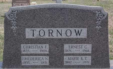 TORNOW, ERNEST C - Hutchinson County, South Dakota | ERNEST C TORNOW - South Dakota Gravestone Photos