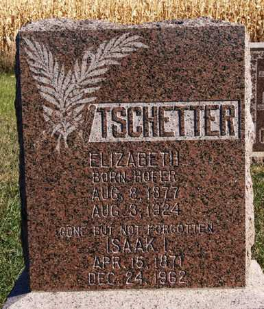 HOFER TSCHETTER, ELIZABETH - Hutchinson County, South Dakota | ELIZABETH HOFER TSCHETTER - South Dakota Gravestone Photos