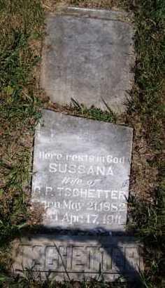 TSCHETTER, SUSSANA - Hutchinson County, South Dakota | SUSSANA TSCHETTER - South Dakota Gravestone Photos