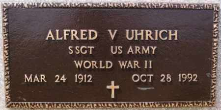 UHRICH, ALFRED V (WWII) - Hutchinson County, South Dakota   ALFRED V (WWII) UHRICH - South Dakota Gravestone Photos