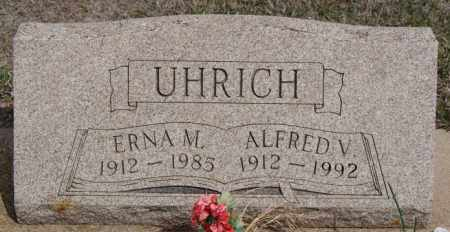 UHRICH, ERNA M - Hutchinson County, South Dakota | ERNA M UHRICH - South Dakota Gravestone Photos
