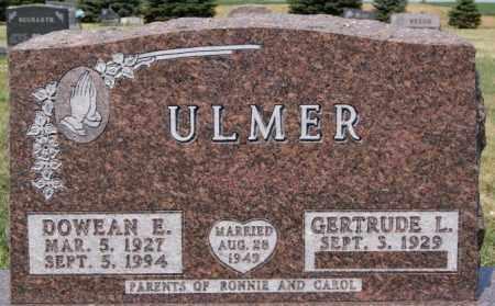 ULMER, DOWEAN E - Hutchinson County, South Dakota | DOWEAN E ULMER - South Dakota Gravestone Photos