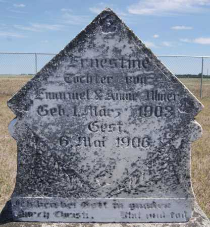 ULMER, ERNESTINE - Hutchinson County, South Dakota | ERNESTINE ULMER - South Dakota Gravestone Photos