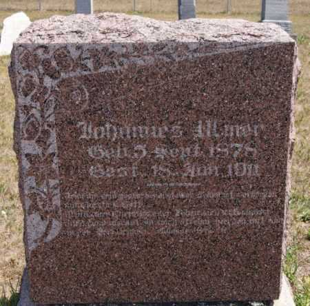 ULMER, JOHANNES - Hutchinson County, South Dakota | JOHANNES ULMER - South Dakota Gravestone Photos