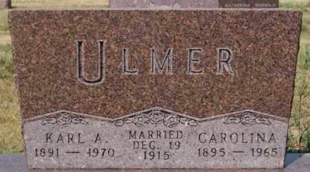 ULMER, KARL A - Hutchinson County, South Dakota | KARL A ULMER - South Dakota Gravestone Photos