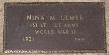 ULMER, NINA M (WWII) - Hutchinson County, South Dakota | NINA M (WWII) ULMER - South Dakota Gravestone Photos