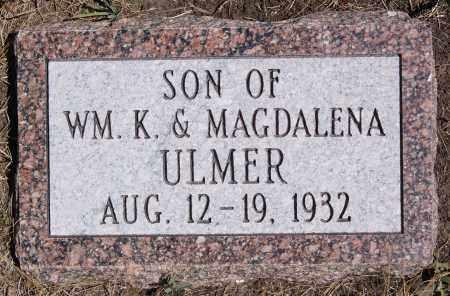 ULMER, SON - Hutchinson County, South Dakota | SON ULMER - South Dakota Gravestone Photos