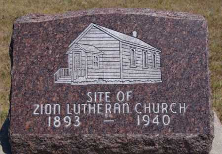 *ULMER, ZION CHURCH MARKER - Hutchinson County, South Dakota   ZION CHURCH MARKER *ULMER - South Dakota Gravestone Photos