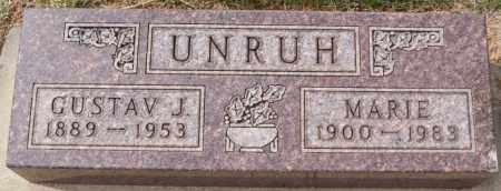 UNRUH, GUSTAV J - Hutchinson County, South Dakota   GUSTAV J UNRUH - South Dakota Gravestone Photos