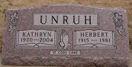 UNRUH, KATHRYN - Hutchinson County, South Dakota | KATHRYN UNRUH - South Dakota Gravestone Photos