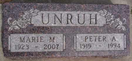 UNRUH, MARIE M - Hutchinson County, South Dakota   MARIE M UNRUH - South Dakota Gravestone Photos