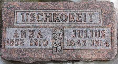 USCHKOREIT, ANNA - Hutchinson County, South Dakota | ANNA USCHKOREIT - South Dakota Gravestone Photos