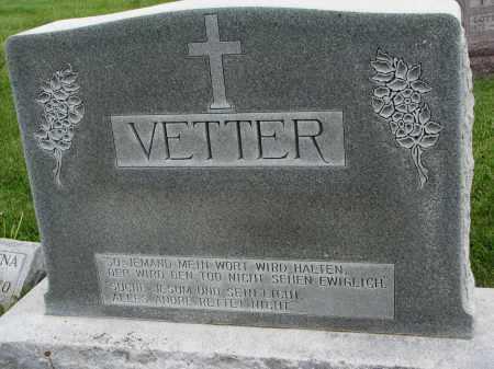 VETTER, FAMILY MARKER - Hutchinson County, South Dakota | FAMILY MARKER VETTER - South Dakota Gravestone Photos