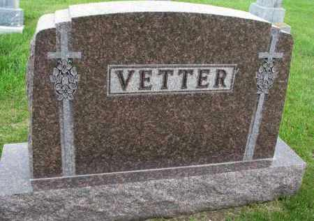 VETTER, FAMILY MARKER - Hutchinson County, South Dakota   FAMILY MARKER VETTER - South Dakota Gravestone Photos