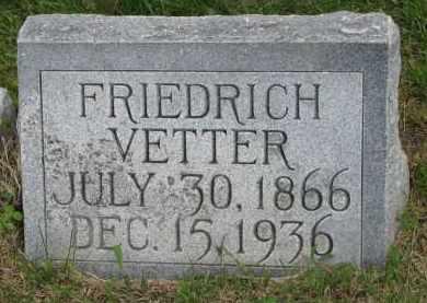 VETTER, FRIEDRICH - Hutchinson County, South Dakota   FRIEDRICH VETTER - South Dakota Gravestone Photos