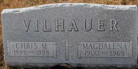 VILHAUER, CHRIS M. - Hutchinson County, South Dakota | CHRIS M. VILHAUER - South Dakota Gravestone Photos