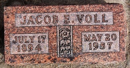 VOLL, JACOB E - Hutchinson County, South Dakota | JACOB E VOLL - South Dakota Gravestone Photos