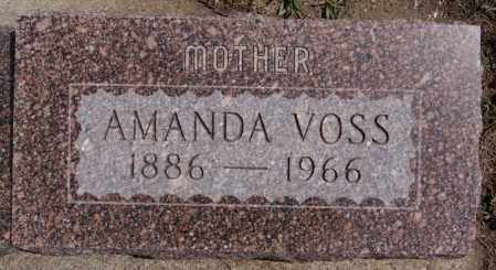 VOSS, AMANDA - Hutchinson County, South Dakota | AMANDA VOSS - South Dakota Gravestone Photos