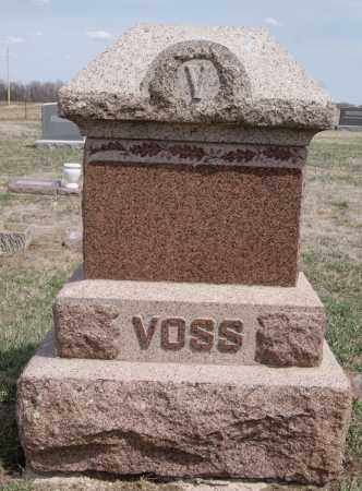 VOSS, FAMILY MARKER - Hutchinson County, South Dakota   FAMILY MARKER VOSS - South Dakota Gravestone Photos